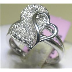 .22 Carat All Diamonds Heart Design Ring