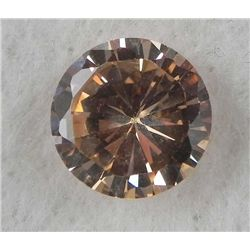 6.0ct Natural Gemstone Round Shaped Champagne