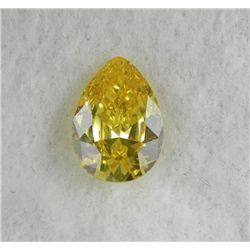 9.5 ct Natural Gemstone, Pear Shaped Yellow