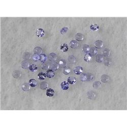 40 3.0ctw Natural Tanzanite Round Lt Purple Gemstone
