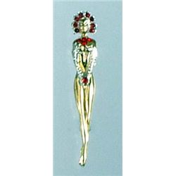 Erte Alphabet Pin Original Circle Gallery Letter I