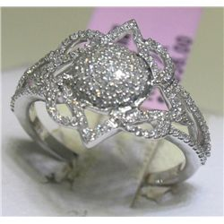 .40 Carat All Diamonds 14K White Gold Ring
