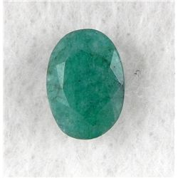 5ct Natural Emerald Gemstone Oval Faceted