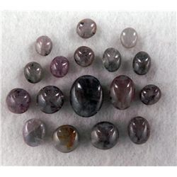 218ctw Natural Cabochon Star Sapphire Lot 17