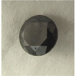 1.71 Carat Loose Black Round Diamond