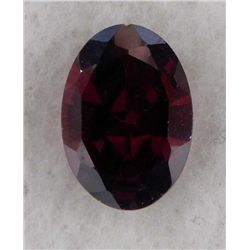 9.5ct Natural Gemstone Oval Shaped Dark Red