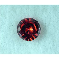 6.0 ct Natural Gemstone, Round Shaped Red