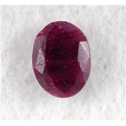 14.5ct Natural Ruby Gemstone Oval Faceted