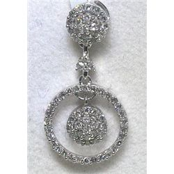 .21 Carat All Diamonds 14K White Gold Pendant