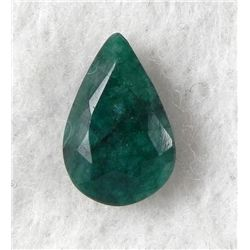 4ct Natural Emerald Gemstone Pear Faceted