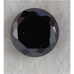 6.5ct Natural Gemstone Round Shaped Black Color