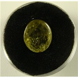 5.80 Carat Yellowish Green Garnet Gemstone