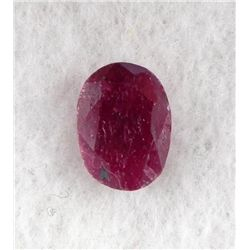 6ct Natural Ruby Gemstone Oval Faceted
