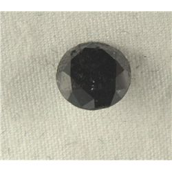 1.43 Carat Loose Black Diamond Opaque-A! Clarity