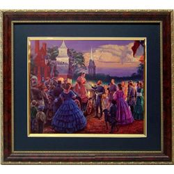 Mort Kustler Civil War Print Frmd Lee Before The Ball