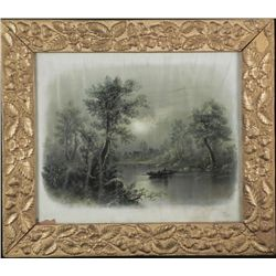 William Henry Chandler Summer Moonight Vint Frmd Print