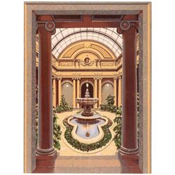 Richard Haas -Frick Garden Court Silkscreen Art Print