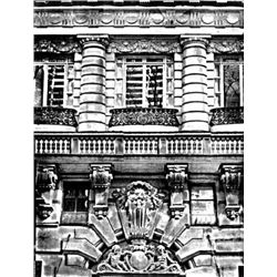 Esteban Chavez WHITE COLUMN FACADE Signed Art Etching