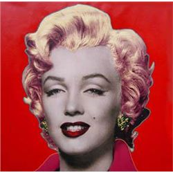 Fabulous! HAND SIGNED Steve Kaufman Red Marilyn Monroe