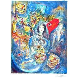 Marc Chagall Bella Fasimile Signed Hand Numbered