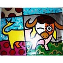 Jozza Original Pop Art Painting Bull