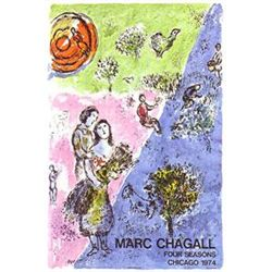 Marc Chagall Art Poster Four Seasons Last Original 1974