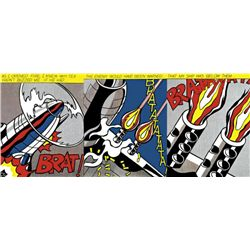 Roy Lichtenstein : As I Opened Fire (triptych) 1965
