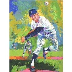 Whitey Ford Yankees LeRoy Neiman Signed LE Art Print