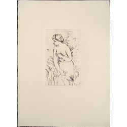 Renoir Etching Art Print - Bather