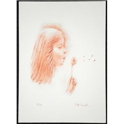 Juliette Honnart Signed Art Print Girl & Dandelion