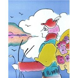 PETER MAX DISTANT PLANET HAND SIGNED LITHOGRAPH wCOA