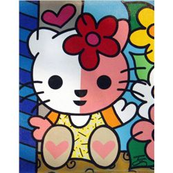Jozza Original Painting On Canvas Hello Kitty