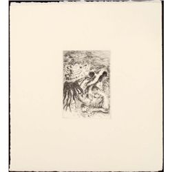 Renoir Etching Art Print - Chapeau Epingle (The Hatpin)