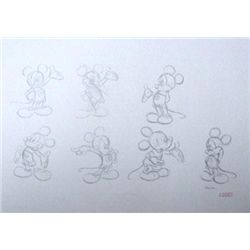 Disney Original Animation Drawing Mickey Mouse Poses