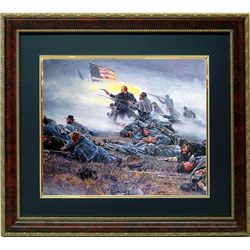 Mort Kustler Civil War Framed Print Courage in Blue