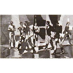 Isabel Bishop SEVEN STUDENTS 1981, Pub 1984 LE Etching