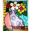 Jozza Original Painting on Canvas Pop Art Flowers