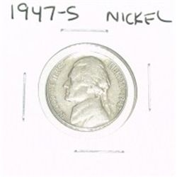 1947-S JEFFERSON NICKEL *PLEASE LOOK AT PICTURE TO DETERMINE GRADE*!!