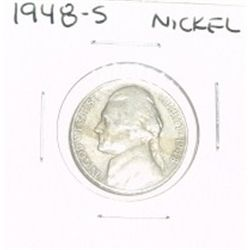 1948-S JEFFERSON NICKEL *PLEASE LOOK AT PICTURE TO DETERMINE GRADE*!!