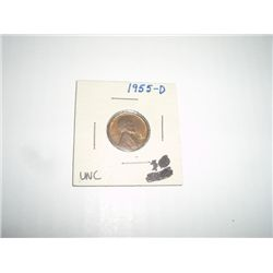 1955-D LINCOLN PENNY *EXTREMELY RARE UNC HIGH GRADE*!!