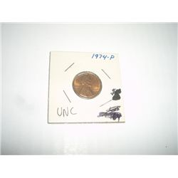 1974-P LINCOLN PENNY *EXTREMELY RARE UNC HIGH GRADE*!!