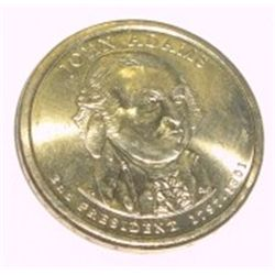 PRESIDENT $1 JOHN ADAMS DOLLAR COIN *RARE MS-65 UNC HIGH GRADE*!!