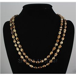 "451.35 CTW LONGSTRAND FRESHWATER PEARL 23"" BROWN NECKLA"