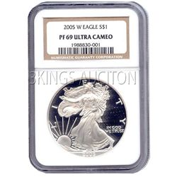 Certified Proof Silver Eagle PF69 2005
