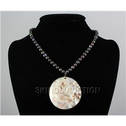 242.46 CTW FRESHWATER CAPIZ PENDANT/MOTHER OF PEARL 24""