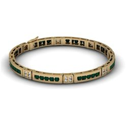 Black Diamond 2.96 ctw Diamond Bracelet 14kt W / Y Gold