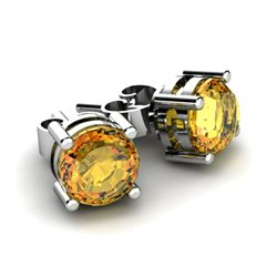Citrine 1.40ctw Earring 14kt White Gold