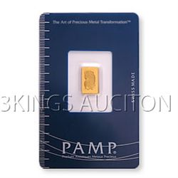 One Gram Gold Bar Pamp Suisse