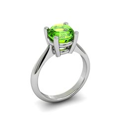 Peridot 2.00ctw Ring 14kt White Gold