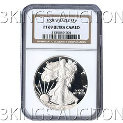 Certified Proof Silver Eagle PF69 2008